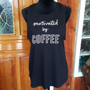 OLD NAVY ACTIVE Go Dry Motivated By Coffee tank